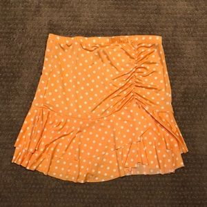 Guess - Orange with white polka dots